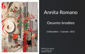 2011_01- Annita Romano. Oeuvres brodées