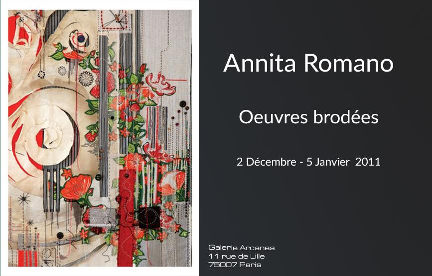 2011_01- Annita Romano. Oeuvres brodées,