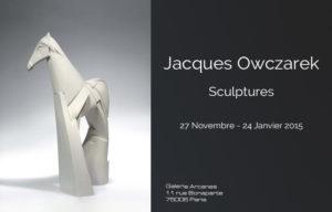 2014-11-Jacques-Owczarek.-Sculptures-Affiche_-Galerie-Arcanes-l-Arts-Décoratifs-XXe-Art-Contemporain-Paris