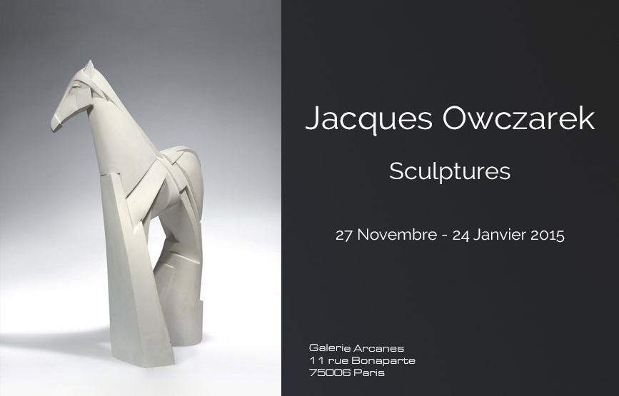 2014-11-Jacques-Owczarek.-Sculptures-Affiche_-Galerie-Arcanes-l-Arts-Décoratifs-XXe-Art-Contemporain-Paris,
