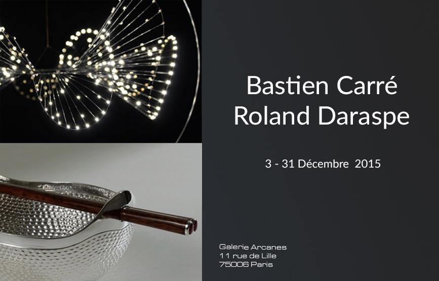 2015-12- Bastien Carré, lumigraphie et Roland Daraspe, orfèvrerie - Carre et Daraspe_ Galerie Arcanes l Arts Décoratifs XXe - Art Contemporain Paris,