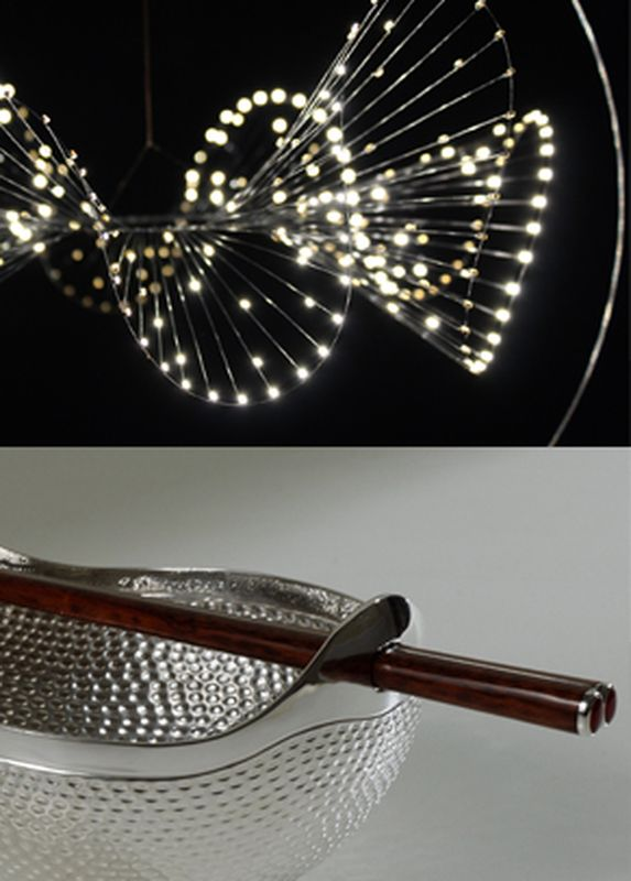 2015-12- Bastien Carré, lumigraphie et Roland Daraspe, orfèvrerie - Carre et Daraspe_ Galerie Arcanes l Arts Décoratifs XXe - Art Contemporain Paris