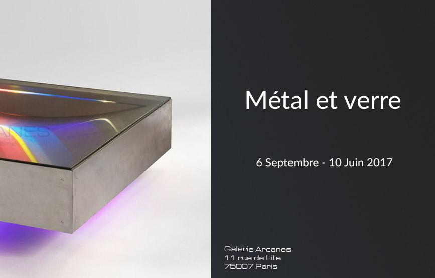 2016-09- Carré Rive Gauche. Métal et Verre - Table lumineuse Guy Pro-Diaz_ Galerie Arcanes l Arts Décoratifs XXe - Art Contemporain Paris,