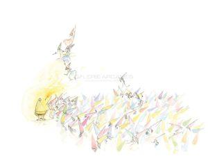 Le berceau des fées, aquarelle sur papier, 2014 | Clara Baum