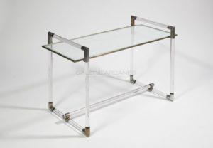 Table basse, métal et verre, circa 1932 | Jacques Adnet