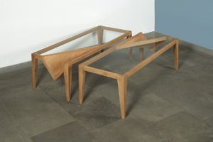 "Coffee table ""Mirre"", Oak and Glass, 2017 