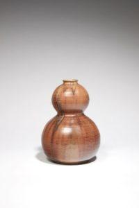 Vase coloquinte roux, grès, 1900-1930 | Louis Lourioux