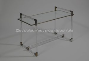 Low table, metal and glass, circa 1932 | Jacques Adnet