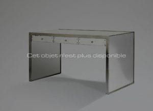 Bureau, miroir et métal nickelé, circa 1932 |Jacques Adnet