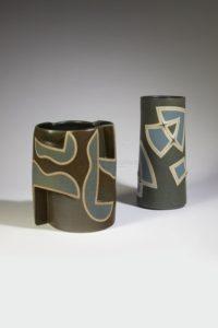 Gustavo Perez - Deux vases géométries _ Galerie Arcanes l Arts Décoratifs XXe - Art Contemporain Paris