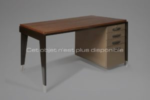 """Direction"" Desk, Metal and Oak, Circa 1950 