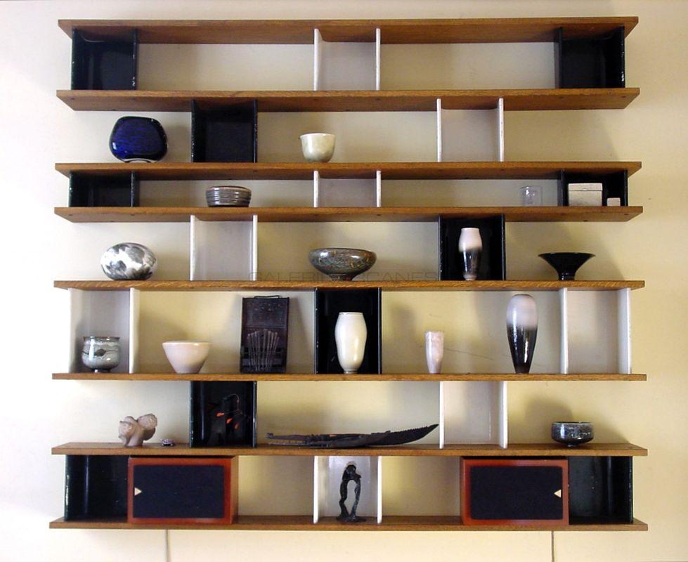 Perriand Charlotte - Bibliothèque noir et blanc Perriand _ Galerie Arcanes l Arts Décoratifs XXe - Art Contemporain Paris