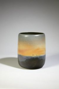 Sunset landscape, ceramic, 2016 | Jean Girel