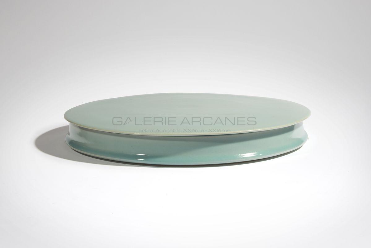 Hermans Valérie - Large boîte céladon _ Galerie Arcanes l Arts Décoratifs XXe - Art Contemporain Paris