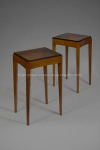Side tables, Ash and Glass, circa 1925-1930 | Dominique (André Domin et Marcel Genevrière)