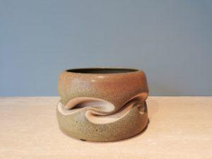 "Green ""Moss"" Twisted Vase, Sandstone, 2005 | Gustavo Perez"