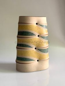 Haut vase méplat, grès, 2011 | Gustavo Perez