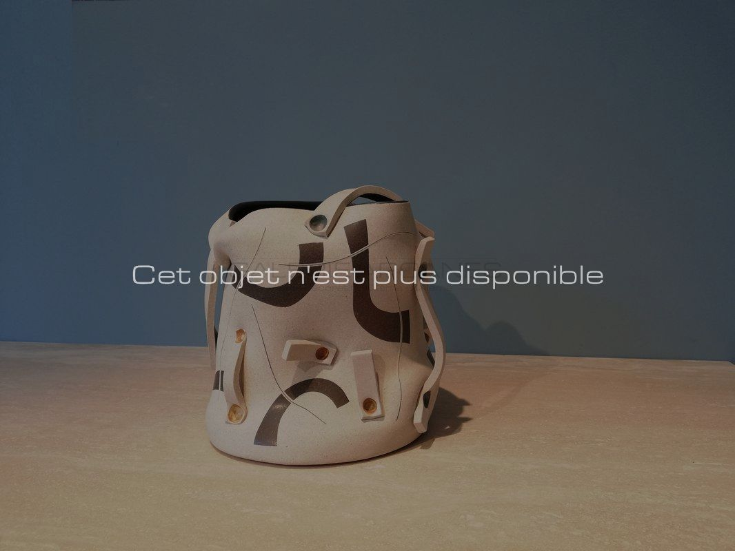 Non-disponibles-Gustavo-Perez-Vase-seau-à-panse-mouvementée-et-rubans-_-Galerie-Arcanes-l-Arts-Décoratifs-XXe-Art-Contemporain-Paris.