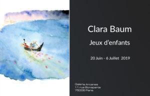 Expositions Galerie SITE - Clara Baum Jeux d_enfants_ Galerie Arcanes l Arts Décoratifs XXe - Art Contemporain Paris
