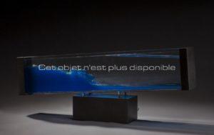 La Vague, métal et Plexiglas | Travail français des années 1970