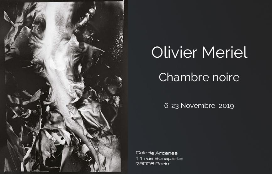 2019-11- Olivier Meriel, Chambre Noire - Affiche_ Galerie Arcanes l Arts Décoratifs XXe - Art Contemporain Paris,