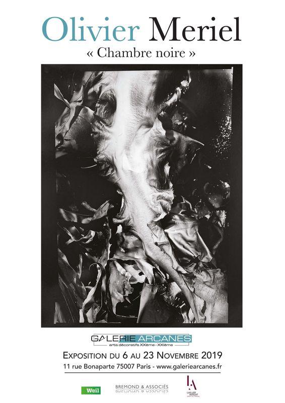 2019-11- Olivier Meriel, Chambre Noire - Affiche_ Galerie Arcanes l Arts Décoratifs XXe - Art Contemporain Paris