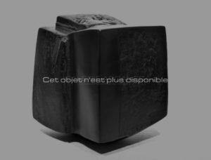 Contenir le vent «la 9-XI», sculpture céramique à couverte noire | Brigitte Marionneau