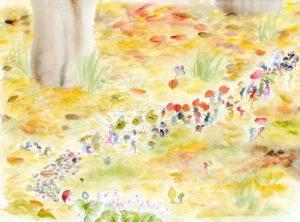 La parade d'automne, aquarelle sur papier, 2019   Clara Baum