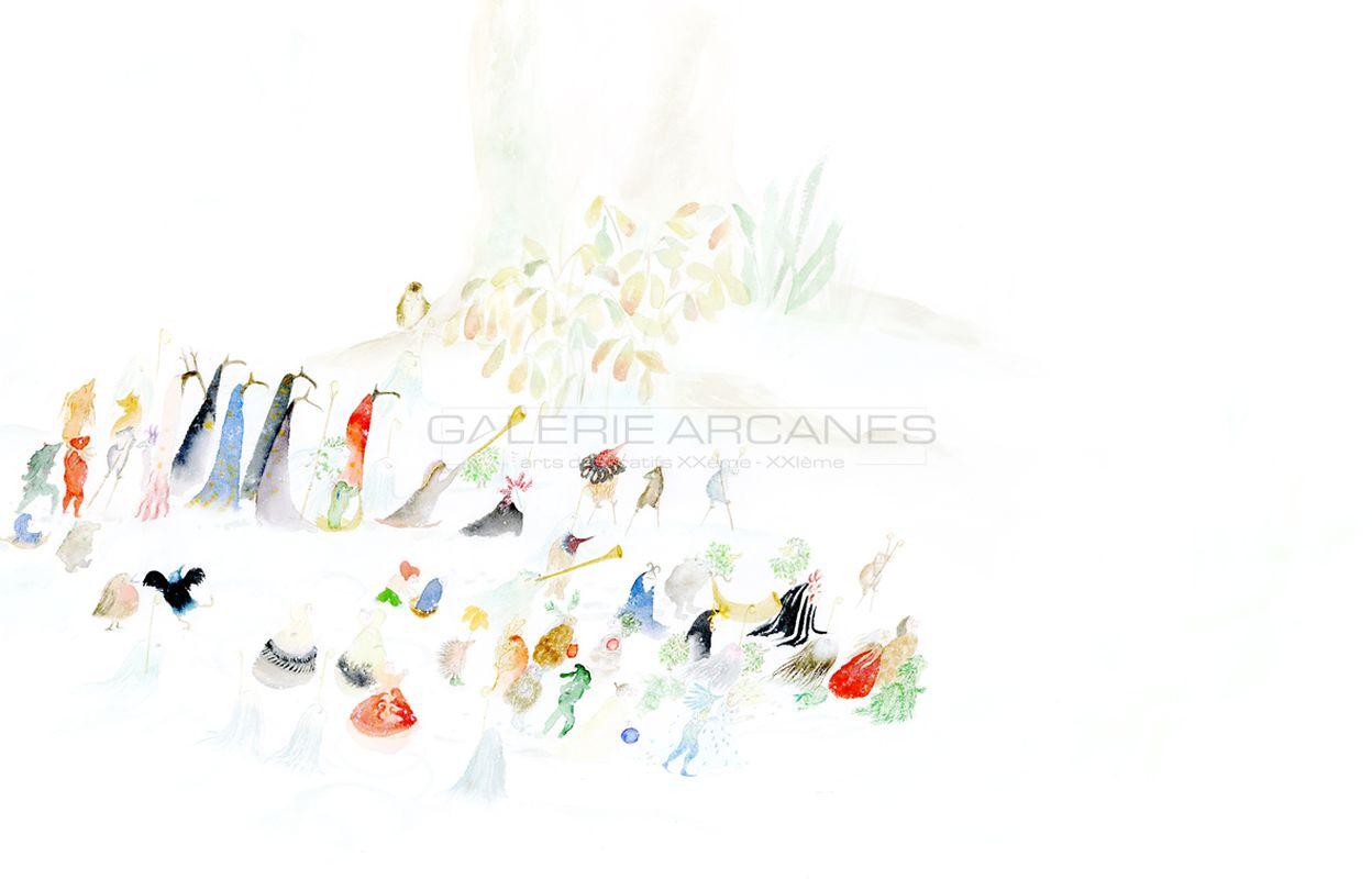 Baum Clara - L'arrivée du roi hiver_ Galerie Arcanes l Arts Décoratifs XXe - Art Contemporain Paris