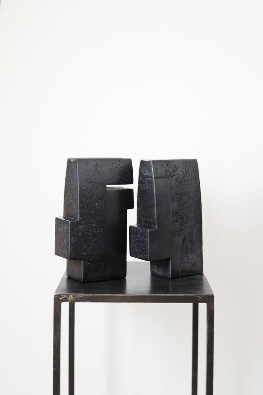 Brigitte Marionneau - Double méplat Contenir le vent 8-XI :7-XI_ Galerie Arcanes l Arts Décoratifs XXe - Art Contemporain Paris