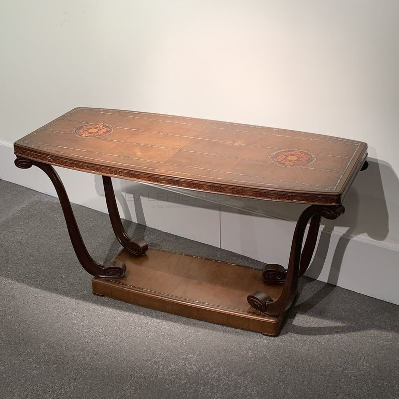 Maurice Dufrene - Gueridon acajou nacre_ Galerie Arcanes l Arts Décoratifs XXe - Art Contemporain Paris