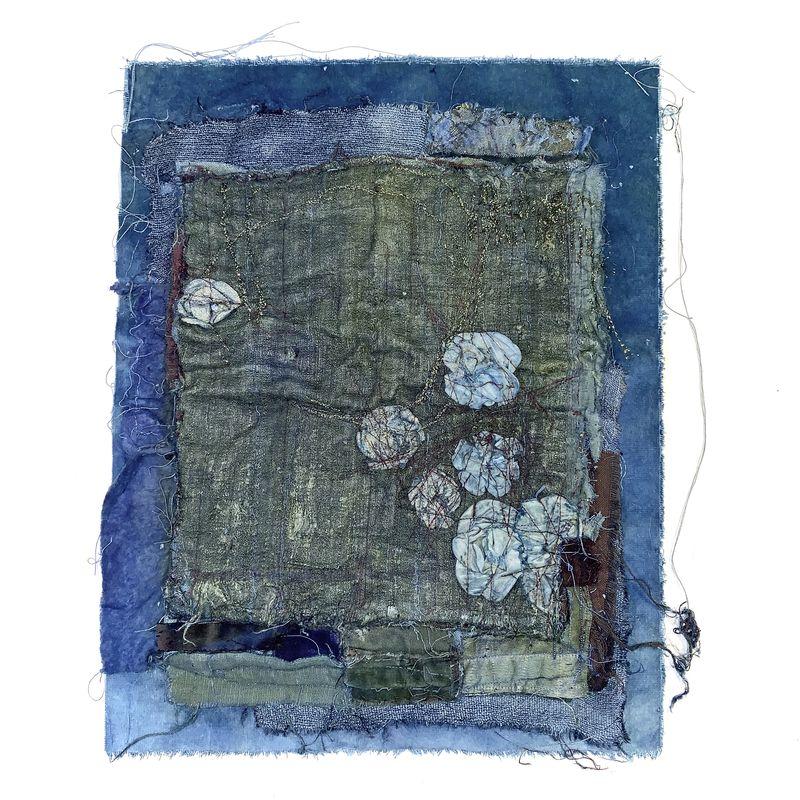 Romano Annita - Le Bleu 40 x 30_ Galerie Arcanes l Arts Décoratifs XXe - Art Contemporain Paris