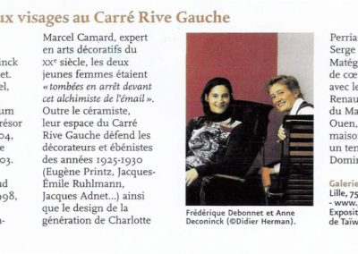 01-2005. Connaissance des arts. Galerie Arcanes - Connaissance des Arts Jan 05_ Galerie Arcanes l Arts Décoratifs XXe - Art Contemporain Paris