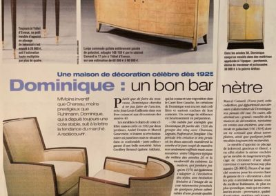 07-2003. Le Figaro magazine. Dominique - 2_ Galerie Arcanes l Arts Décoratifs XXe - Art Contemporain Paris