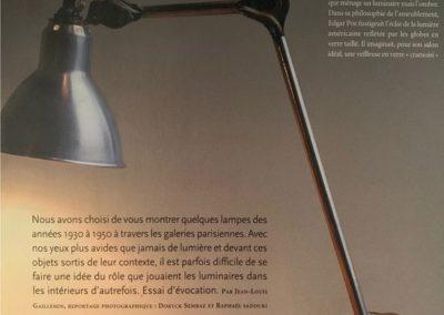 12-2004. L'Oeil. Luminaires - 1_ Galerie Arcanes l Arts Décoratifs XXe - Art Contemporain Paris