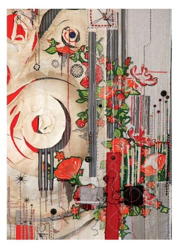 2011-01- Annita Romano. Oeuvres brodées - Broderies_ Galerie Arcanes l Arts Décoratifs XXe - Art Contemporain Paris