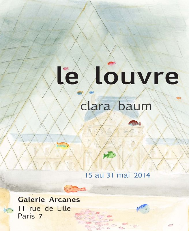 2014-05- Clara Baum. Dessins - Le Louvre_ Galerie Arcanes l Arts Décoratifs XXe - Art Contemporain Paris,