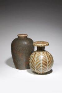 Vase balustre émaillé bronze, grès, 1900-1930 | Louis Lourioux