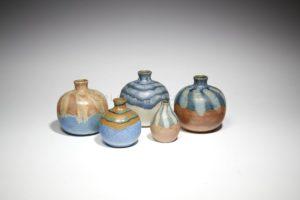 Vases boule à couverte de coulée d'émail, grès, 1900-1930 | Louis Lourioux