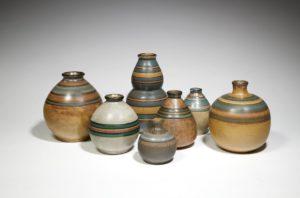 Vases en grès Art nouveau à décor de liserés, 1900-1930 | Louis Lourioux