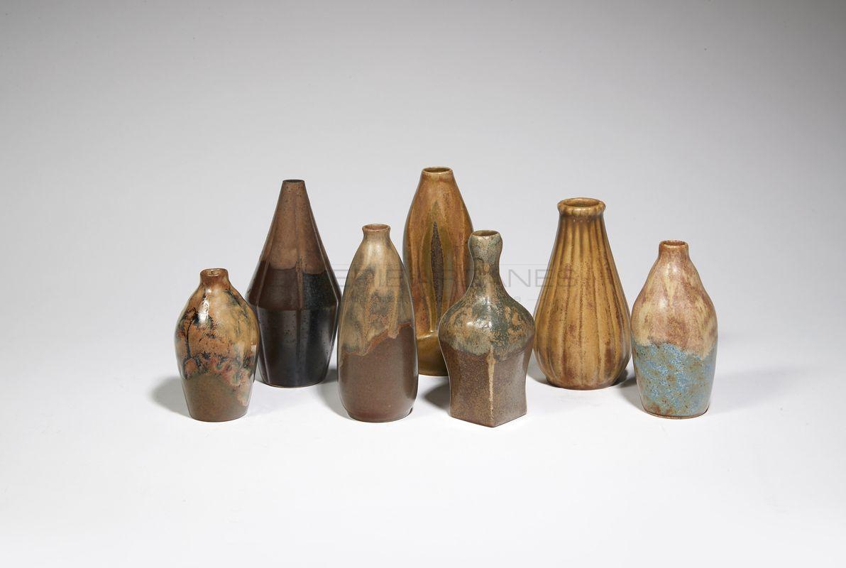 Lourioux Louis - Vases miniatures en grès_ Galerie Arcanes l Arts Décoratifs XXe - Art Contemporain Paris