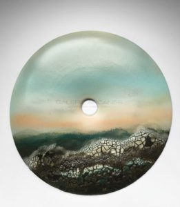Disque Bi «Mer agitée», porcelaine, 2013   Jean Girel