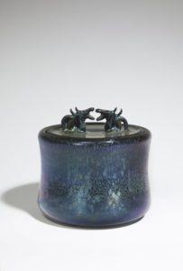 Boite «dragons» bleu nuit irisé, 2019 | Jean Girel