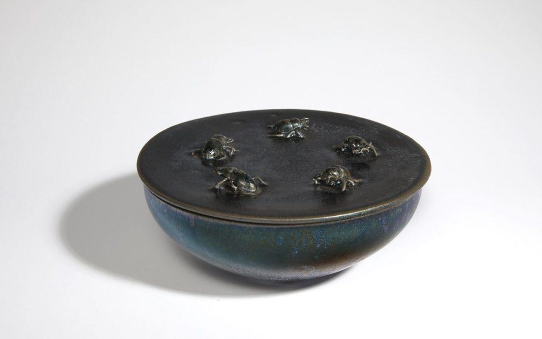 Scarabs box, iridescent ceramic, 2013   Jean Girel