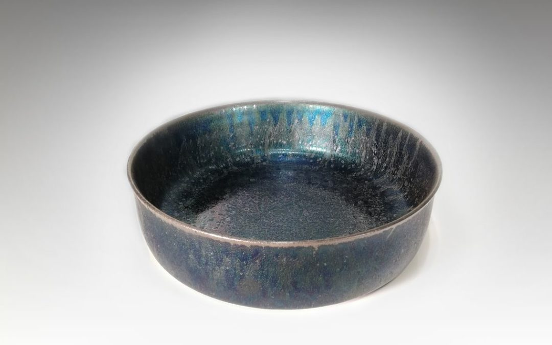 Large iridescent ceramic, 2015   Jean Girel