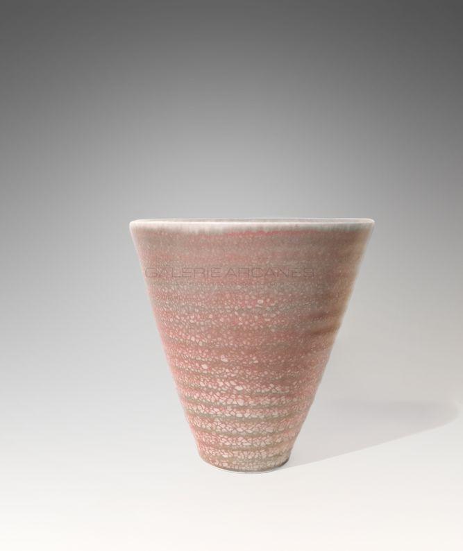 Girel Jean - Vase coquillage rose et bleu_ Galerie Arcanes l Arts Décoratifs XXe - Art Contemporain Paris