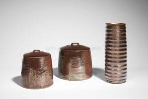Ensemble de porcelaines à émail métallifère | Valérie Hermans