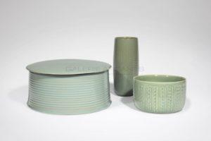 Grande boîte cylindrique céladon | Valérie Hermans