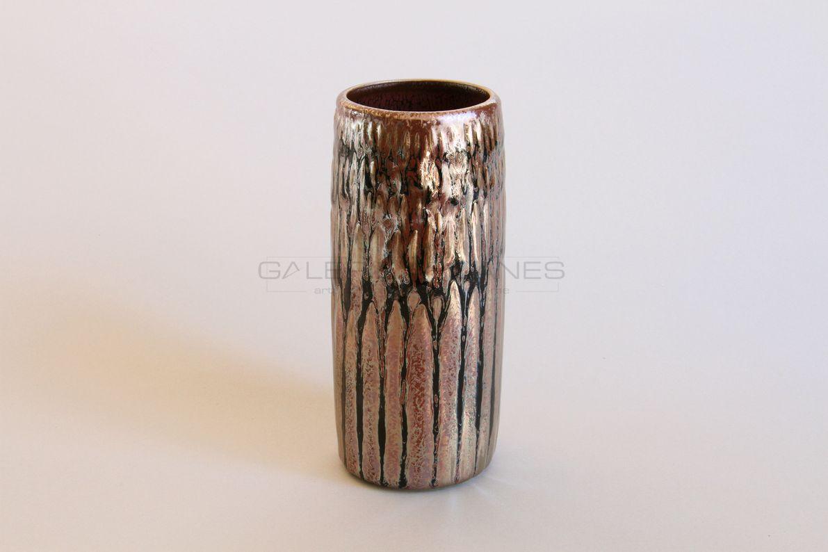 Hermans Valérie - Vase rouleau métallifère _ Galerie Arcanes l Arts Décoratifs XXe - Art Contemporain Paris