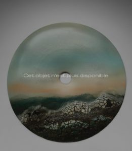 Disque Bi «Mer agitée», porcelaine, 2013 | Jean Girel